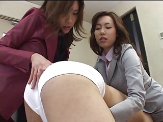 Japanese office lass shares her servant