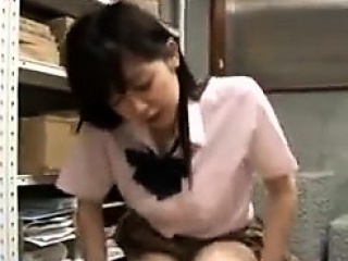 Japanese Girl Rubbng A Guys Cock