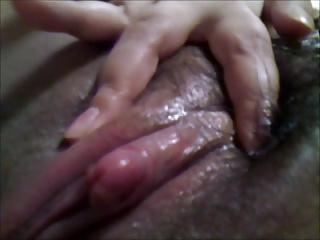 my asian hairy pussy (clit massage4)