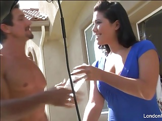 Sexy London Keyes gets fucked on the kitchen counter