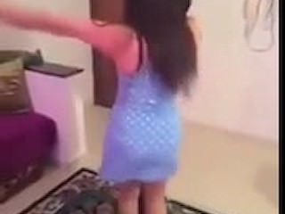 Starkers Egyptian dance in shower Ass
