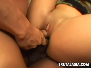 She gets fucked in a group hardcore plow