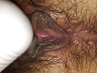 Japanese girl masterbating after cumming inside her pussy