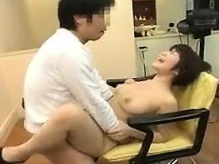 Busty Japanese cash-drawer sucks POV cock