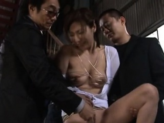 Hot asian milf loves her foremost cam play with younger plank