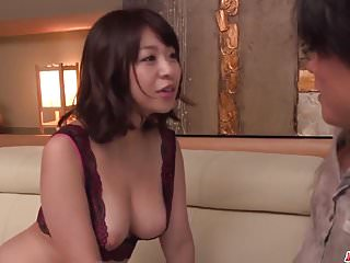 Milf relating to heats Wakaba Onoue amazing sex relating to reception room with son