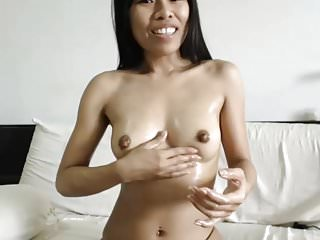 Playing With Her Big Oiled Thai Nipples