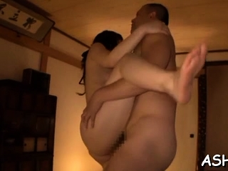 Hot asian babe gets hairless pussy fucked eternal doggystyle