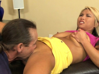 Asian stepdaughter plowed