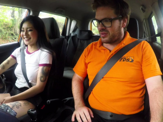 Fake Driving School Sexy Japanese Rae Lil Sulky