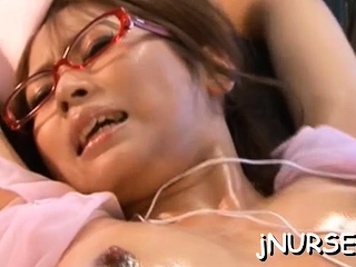 Spicy foreigner girlie Akina decided to start showing her tits