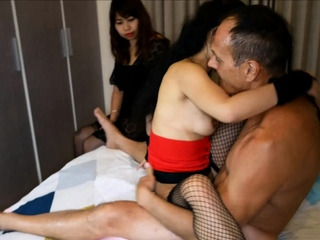 Thai wife watches husband fuck an escort who is say no to friend