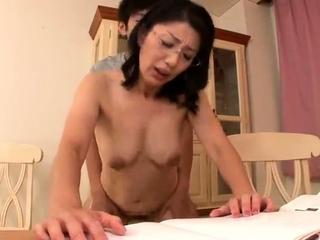 Mature Japanese Rina Tachikawa exposing perishable cunt
