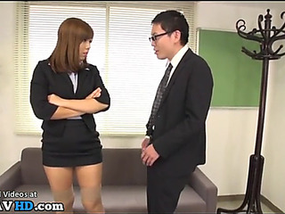 Japanese secretary dominates tryst house-servant