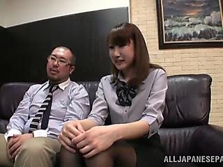 Hawt office sex with the hawt japanese unladylike minami hirahar