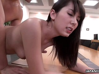 Handsome berth gal Yui Hatano pussy drilled by their way colleagues