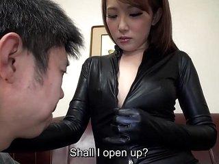 Subtitled Japanese AV star Ai Mizushima full body marvel at