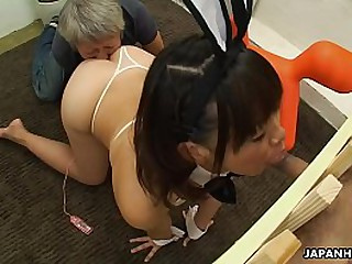 Asian pet girl is convict and forced to drag inflate cocks