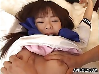 X-rated nuisance Asian spoil tied up and gewgaw fucked hard