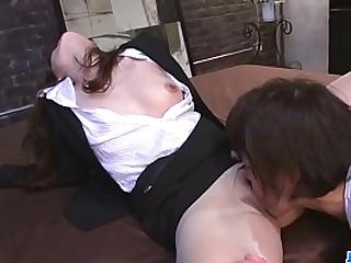 Hot japan girl Shiona Suzumori in office fuck scene