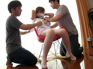 Sex-crazed Japanese model in Exotic Fetish, Threesome JAV clip