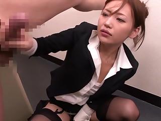 Incredible Japanese whore in Nonsensical Office, Handjob JAV clip