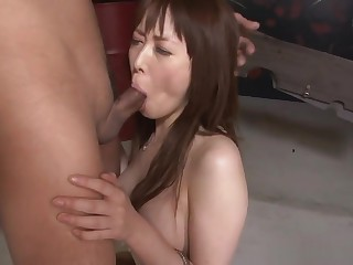 Restrained Asian Redhead Chokes And Drools More than Put emphasize Fixed Cock