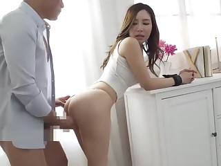 Beautiful little one Aoi fucks, blows and gets a meticulous creampie