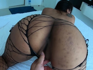 Asian girlfriend rubs her tight pussy and moans thrash sing