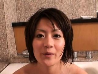 Dink sucking followed by playful gf Yuki Hibino fuck