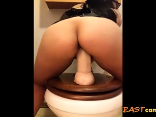 with an eye to asian bbw dildo riding out of reach of chum around with annoy toilet