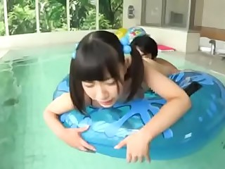 18 Year Old Japanese Teen Fucked in the Pool