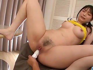 Hina Maeda perfect solo encircling toys caught on cam