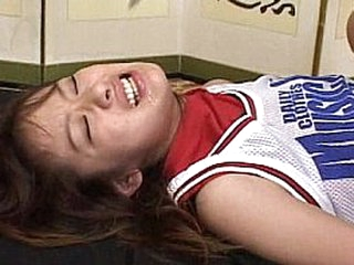 Naughty Japanese Cutie Gets Smothered With Cum