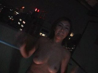 Evening fuck on the balcony
