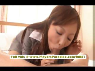Anna Mitsui Hot Asian transcriber gets a lasting fucking